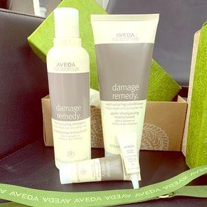Aveda damage remedy gift set